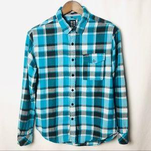 Billabong Flannel Button Down Long Sleeve Shirt S